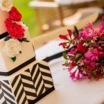 Geometrische vormen bruidstaart