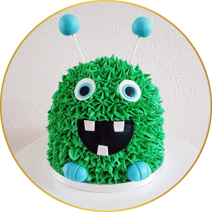 Monster Smash Cake Kindertaart