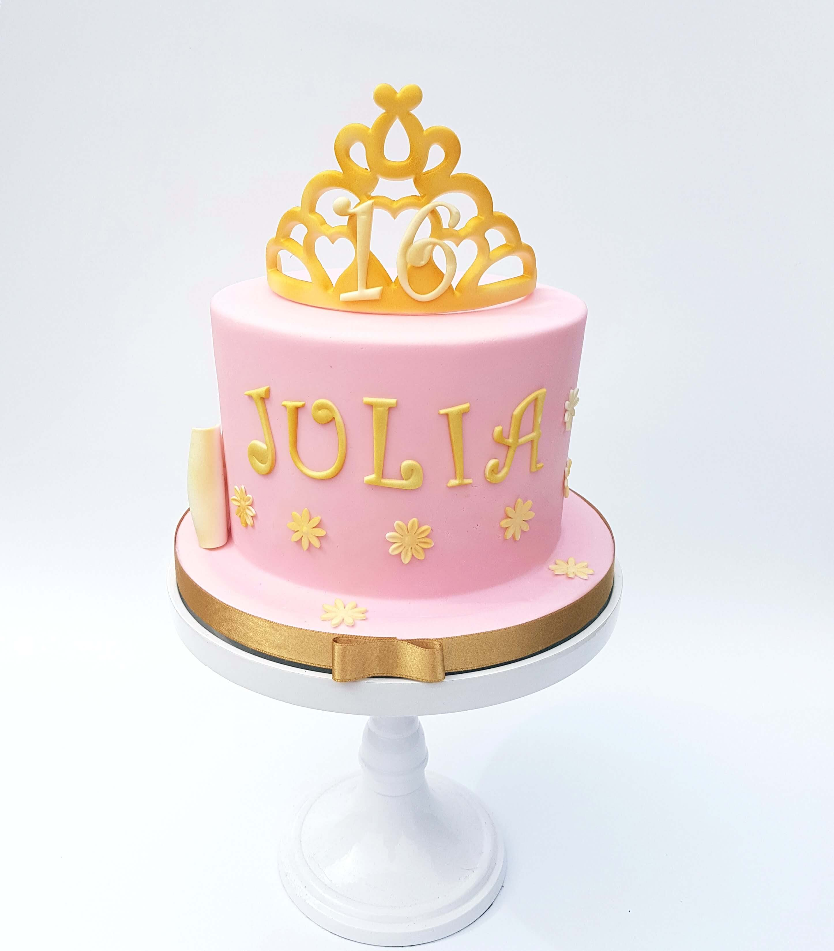 Sweet Sixteen Verjaardagstaart taart Cake Roze Prinses