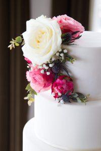 Romantic Wedding Cake Floral Fondant Bruidstaart Bloemen details