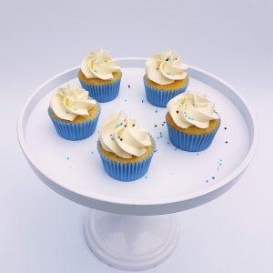 babyshower cupcakes blauw jongetje