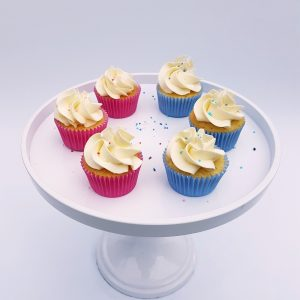 babyshower cupcakes blauw roze