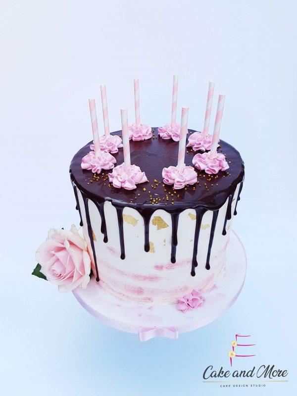 Pink Paradise Dripcake Cakedesign Verjaardagstaart