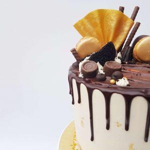 Goud chocolade dripcake cakedesign puur