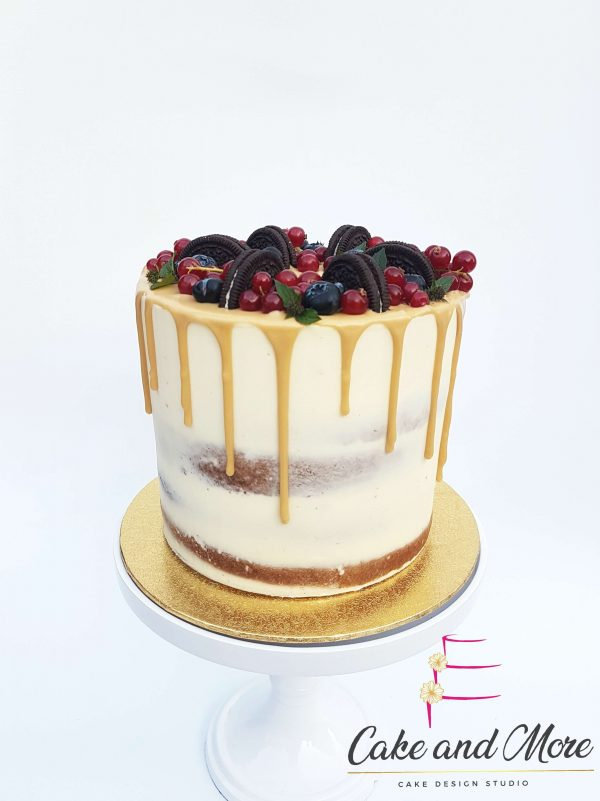 Goud Fruit Semi Naked Dripcake Cakedesign Verjaardagstaart