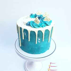 Winter Wonderland Dripcake Feestdagen Taart Gebak blauw