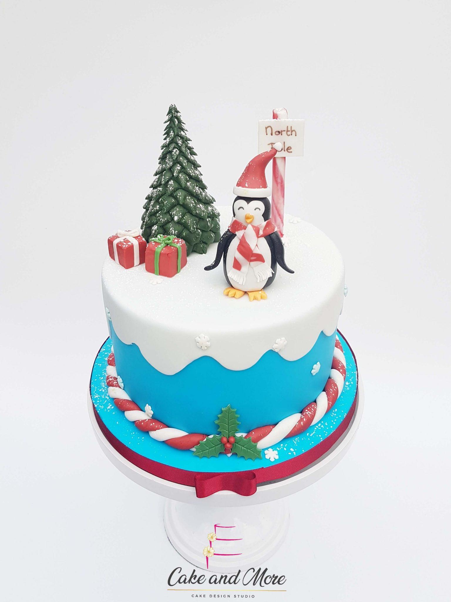 Christmas Special Cake Penguin