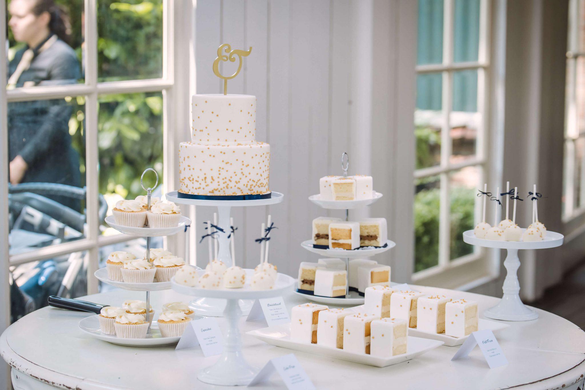 Sweet Table Goud Navy Blauw bruiloft trouwen