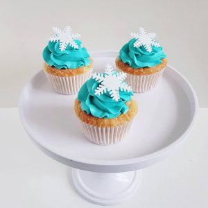 Snowflake winter Cupcakes