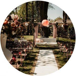 Styling ceremonie trouwlocatie Hugo de Vries