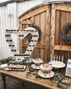 Boho Rustic Sweet Table Heart